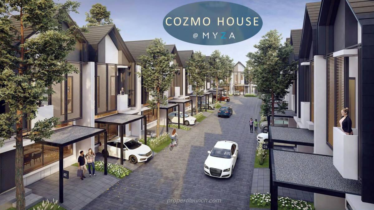 Lingkungan klaster Cozmo House Myza BSD