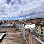 my mom on the roof of our hotel in Bern, Switzerland in Bern, Bern, Switzerland