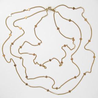 14K Gold Triple Chain Necklace
