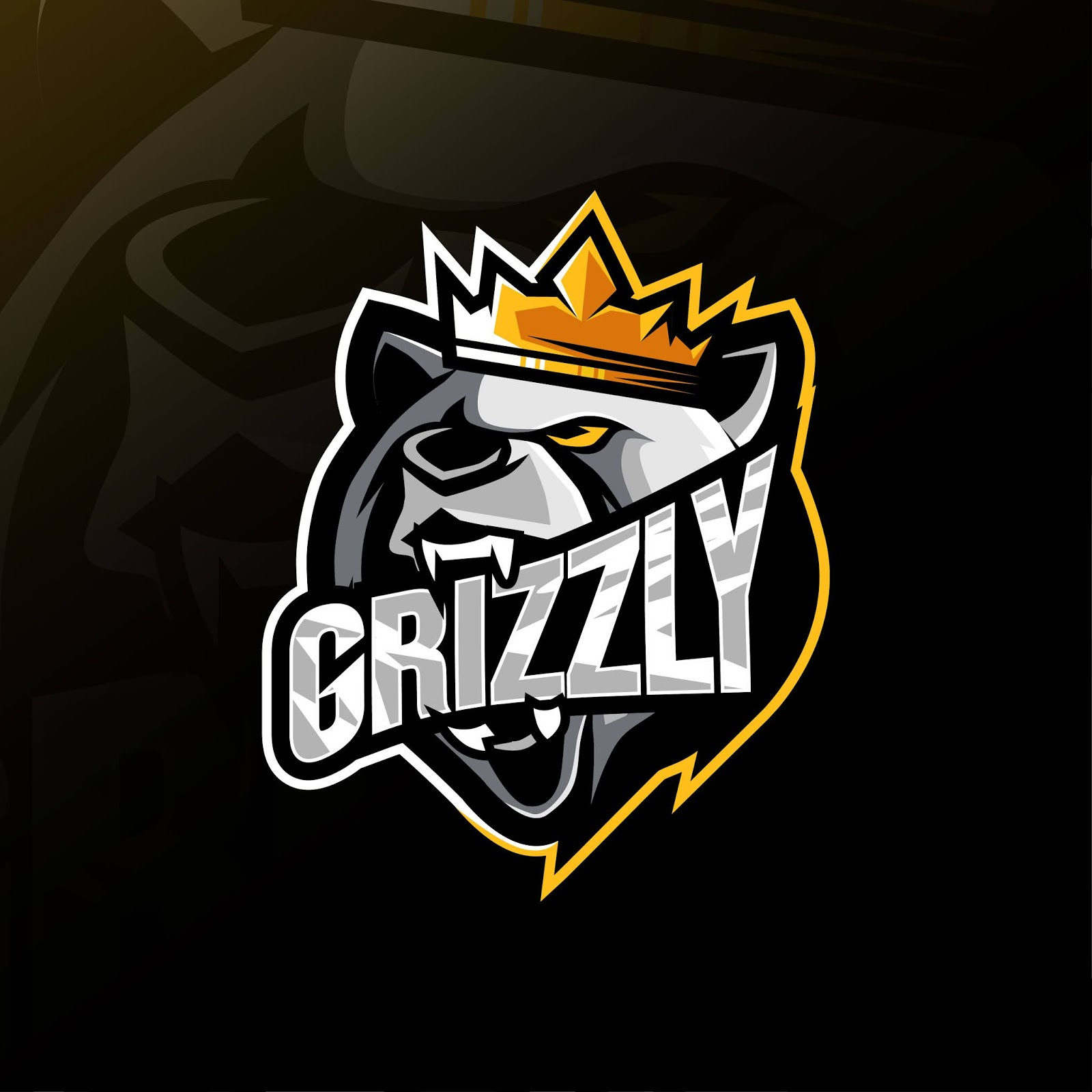 King Grizzly Mascot Logo Free Download Vector CDR, AI, EPS and PNG Formats