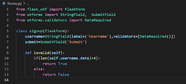 Flask for dummies Part 3 - Secured Forms, Flask Database