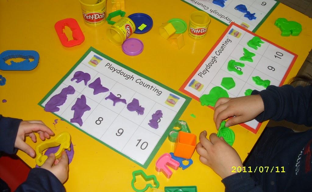 recursos didácticos: Tarjetas para contar figuras de masa de color