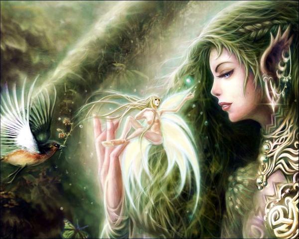 Fairy In The Hand, Fairies Girls