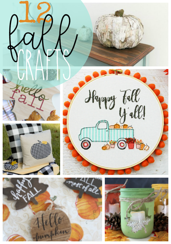 12 Fall Crafts at GingerSnapCrafts.com #crafts #fall #falldecor