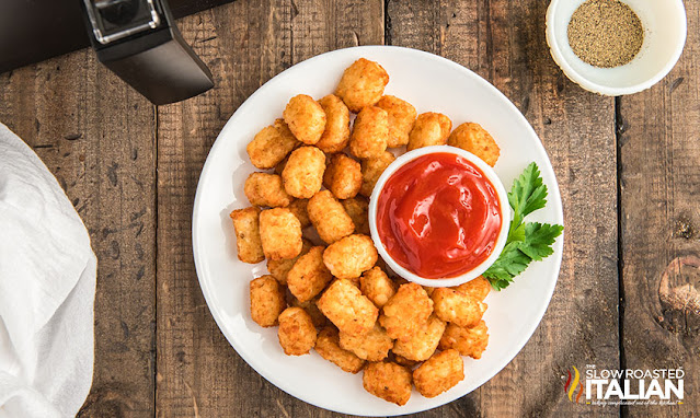 tater tots on a plate