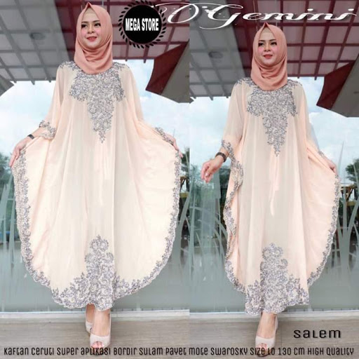 10 Model Baju Batik Gamis Kombinasi Blazer Modern