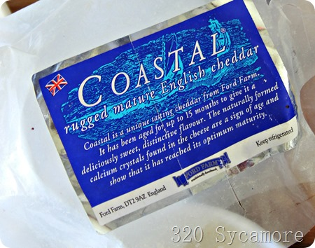 coast english cheddar