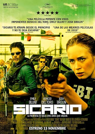 Poster Of Sicario 2015 In Hindi Bluray 1080P Free Download