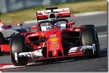 Vettel testa l'Halo sulla Ferrari