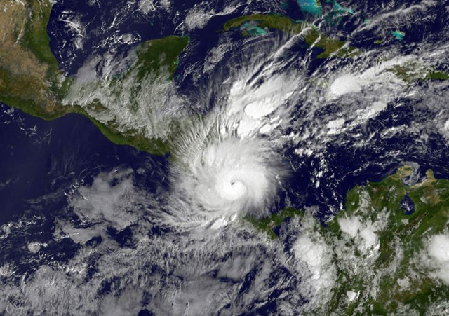 Hurricane Otto as seen at 1611 UTC on 24 November 2016 over Central America in this NOAA-NASA GOES Project image. Photo: AFP Photo