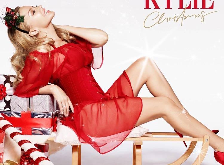 Kylie Minogue en la portada de Christmas