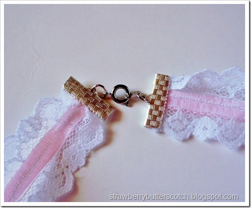 5 a Week: Lace and Ribbon Jewelry: Trying out jewelry clamps