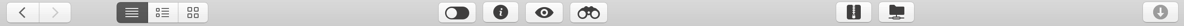 All the upper toolbar icons