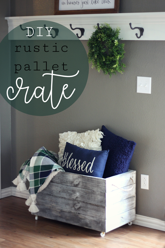 DIY Rustic Pallet Crate at LifeStorage #lifestorageDIY