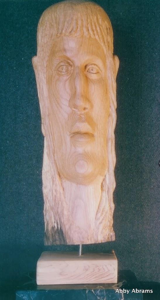 Blockhead1, oak, 18in.h