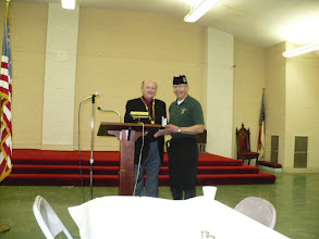 Photo: Ill Sam Vaughan 33 and Jack Rose 32 KSA receiving our Valley's 2011 Service Award