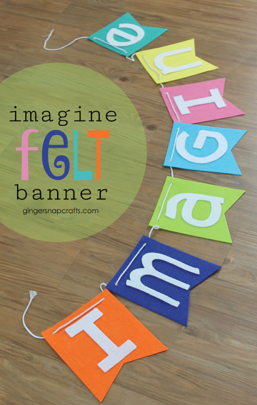 imagine felt banner at gingersnapcrafts.com #felt #cricut #cricutmade