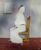 'Das Fieberthermometer', Öl auf Leinwand, 50x60,  August 1997