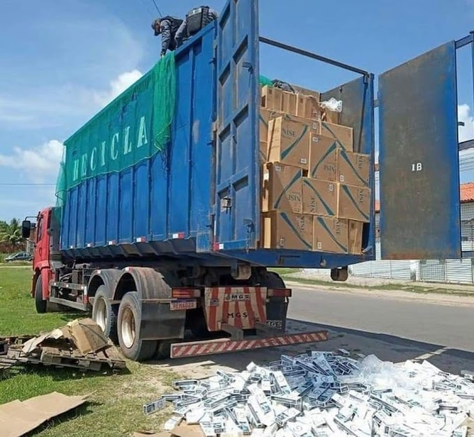 Operação Conjunta entre Polícia Militar e Guarda Municipal de Tutóia-MA, realiza apreensão de carga contrabandeada avaliada em mais de 1 milhão de reais