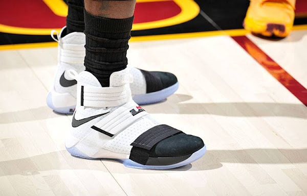 LeBron Debuts Black Toe Soldier 10 PE in Wine  Gold Scrimmage