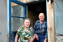 Larisa Ivanovna a Vladimir Petrovich dostali uhlí na zimu. Umanskoe, Ukrajina. Foto: Roman Lunin, Člověk v tísni