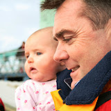 Proud dad Glen with Fay. 25 January  Photo: RNLI Poole/Rob Inett