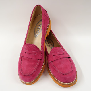 Tod's Suede Fuscia Loafers