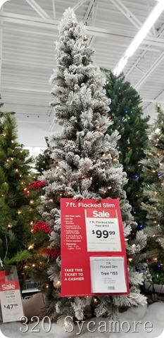 flocked slim tree