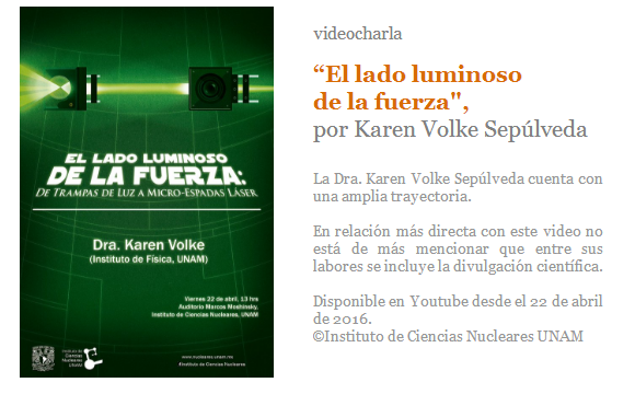 Karen Volke Sepúlveda, charla, ciencia, divulgación científica