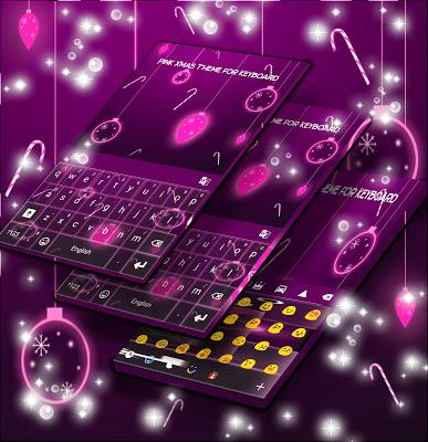 Pink Xmas Theme for Keyboard - screenshot
