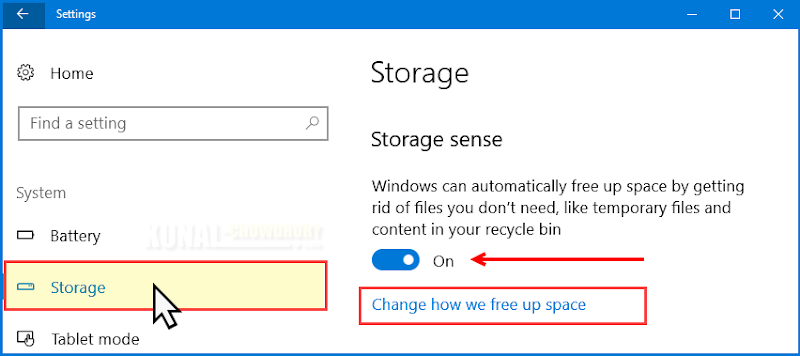 Windows 10 Storage Settings (www.kunal-chowdhury.com)
