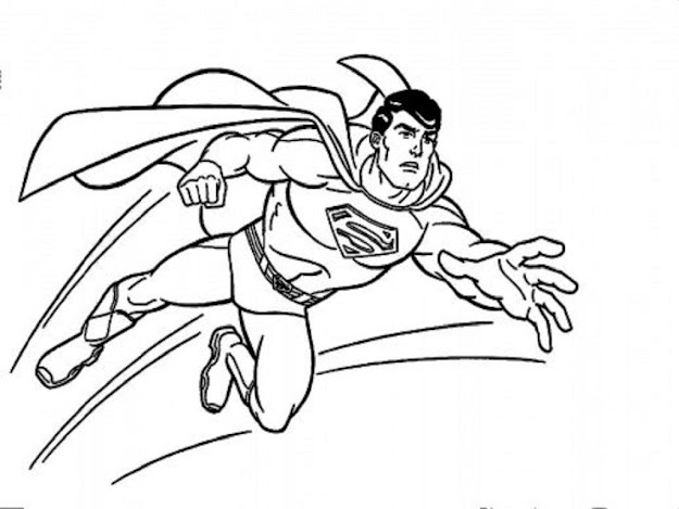 Image Of Superman Coloring Page
