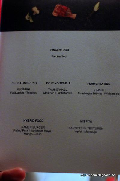 """Menü bei der AEG Taste Academy """"Culinary Trends"""""""
