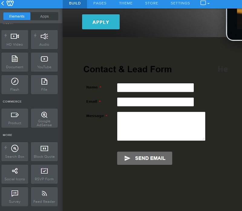 123 Form Builder for Weebly - Default Form