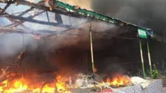 Angry Youth set Redeem Church Ablaze over death of Uni-Ben Student.