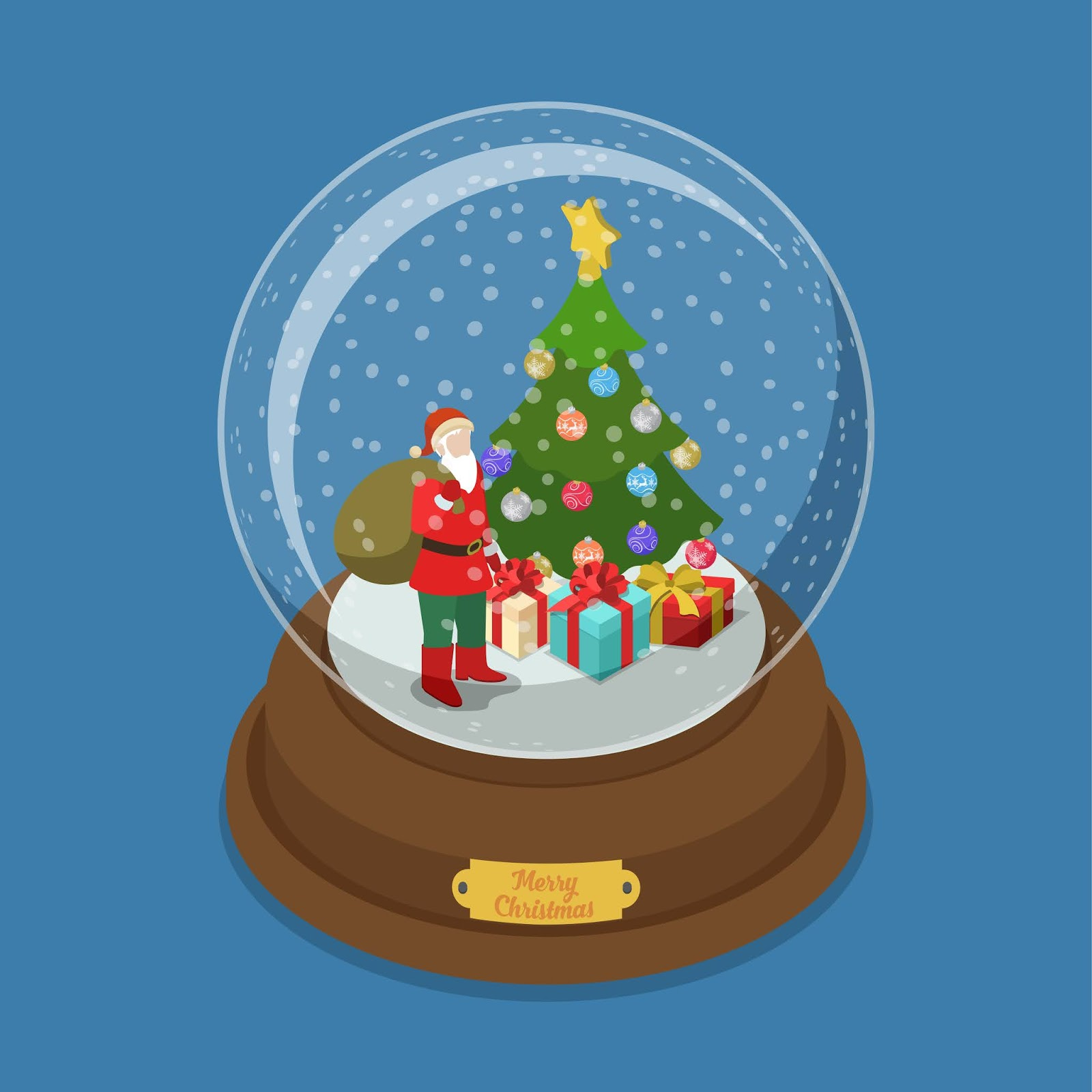 Merry Christmas Crystal Ball Free Download Vector CDR, AI, EPS and PNG Formats