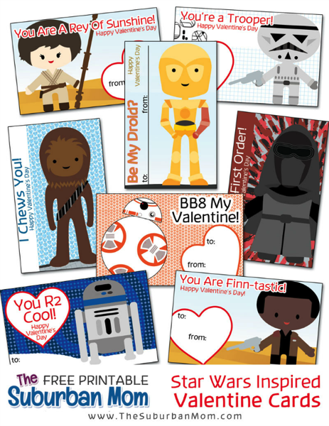 Star Wars Printable School Valentines