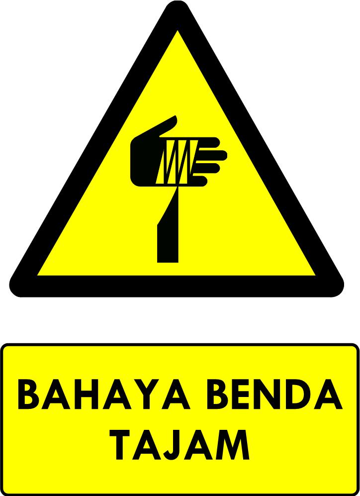 Rambu Bahaya Benda Tajam