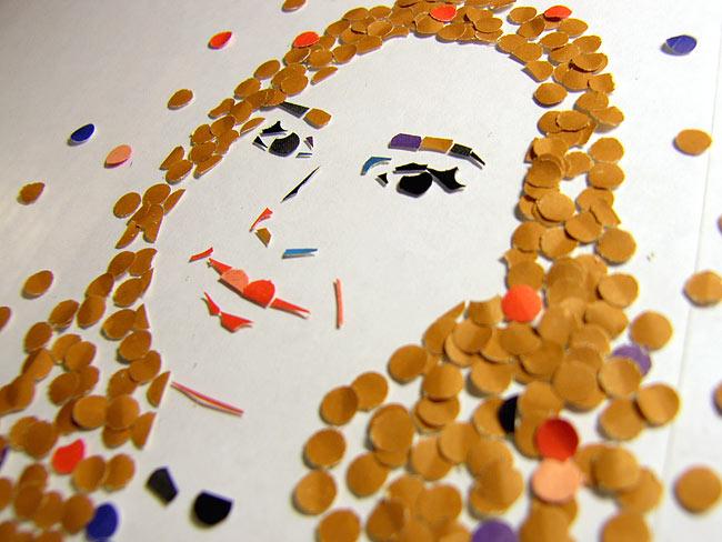 иллюстрация из конфетти