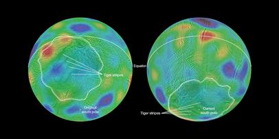 reorientação do solo de Encélado