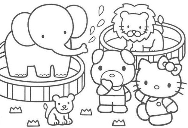 Kitty Coloring Pages Hello Kitty Coloring Pages On Coloringbookinfo Hello  Kitty Coloring Pages Wecoloringpage
