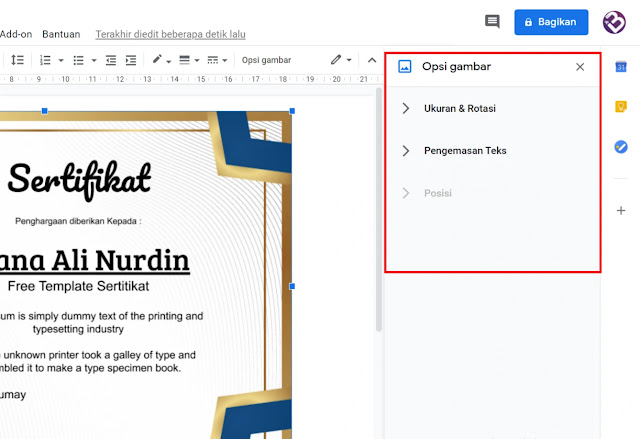 Ready To Print : Download Frame Seritikat Docx Word Keren Gratis
