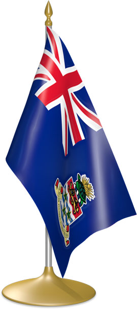 Caymanian table flags - desk flags