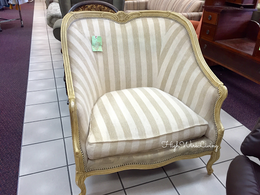gold stripe chair