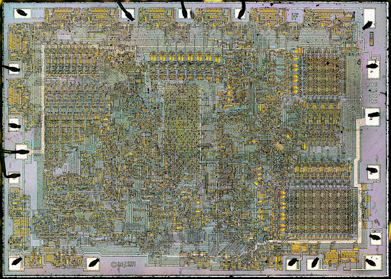 Die photograph of the 8008 microprocessor