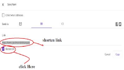how to shorten google form link