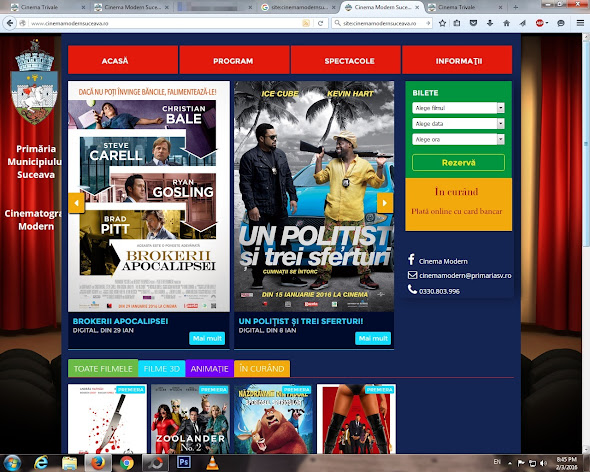 Site Cinema Suceava, copiat Cinema Trivale