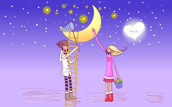 Valentinovo besplatne ljubavne slike čestitke pozadine za desktop 1440x900 free download Valentines day 14 veljača zvijezde nebo