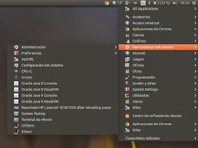 el menú clasico de Gnome en Ubuntu - imagen 1