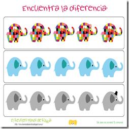 Elmer. Encuentra la Diferencia